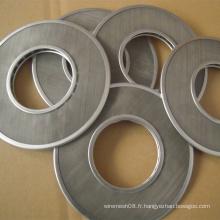 Treillis métallique de disque de filtre de cercle concentrique