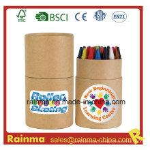 24PCS Crayon no tubo de papel para presente de papelaria