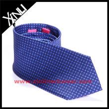 Cravate de partie d'impression de dent de chien bleu