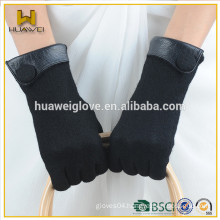 Wholesale Ladies Black Spring Wool Gloves