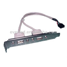 USB2.0 AF DUAL PORT PANEL MOUNT CABLE(ERS001-539)
