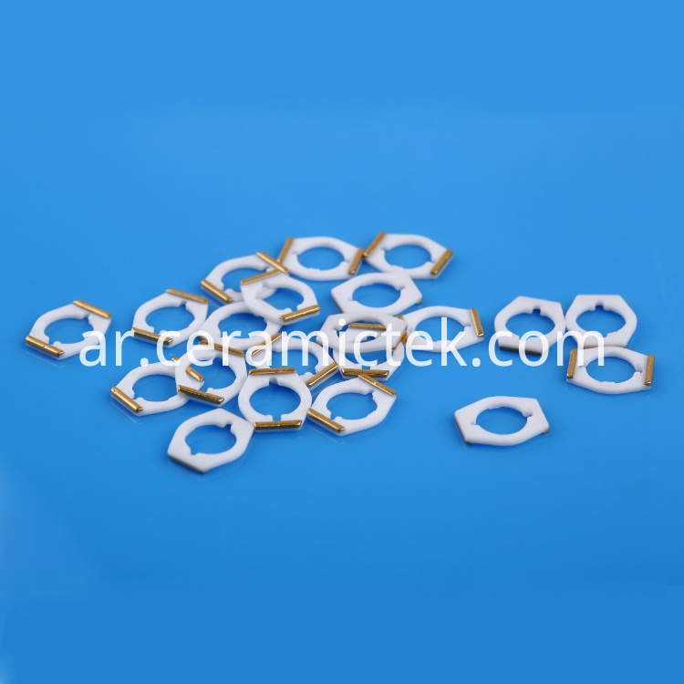 Metallized ceramic base