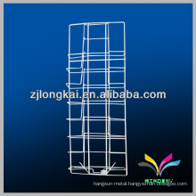 Best quality metal white floor standing display rack for magazine or brochure
