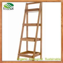 Bamboo Storage Shelf Bathroom Racks