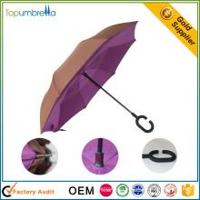 japanischer heißer Verkaufsart und weise umgedrehter Doppelschicht-Rückseitenregenschirm