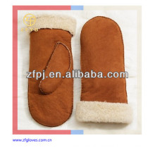 Lady's fashion warm leather mittens glove