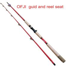 Ofji GUID и катушкодержатель Торпедо стержень черный рыба удочка