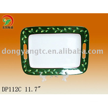 Factory direct wholesale 11.7 inch porcelain tray