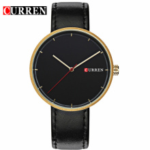 Business Minimalism Leather Quartz Men Watches