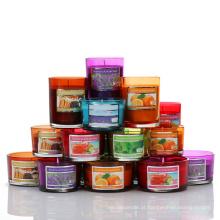 Venda quente Vidro Fosco Romântico Vela Jar