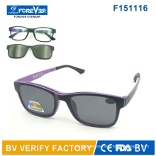 F151116 Nuevo Hotsale diseño óptico y gafas de sol con lentes polarizadas