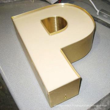 Lettre acrylique polychrome imperméable populaire de la Manche de signe de LED