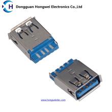 Feminino 9pin 180degree Solder USB 3.0 Connector