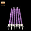 World-class Party Use Pure Paraffin Wax Mixed Colour Spiral Twist Candles Wholesale