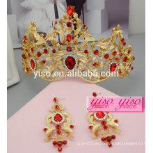 Headbands vestido decorativo personalizado tiara de la boda de la princesa y pendientes conjunto
