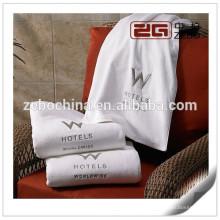 Algodón egipcio blanco suave 32s bordado de precio de fábrica mejores toallas