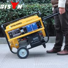 BISON (CHINA) 100% Preços do fio de cobre com gerador de gasolina 4kw de roda