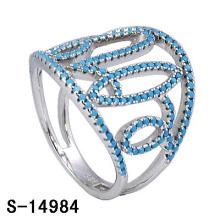 2016 neue Design Mode Messing Schmuck Ring mit Türkis (S-14984)