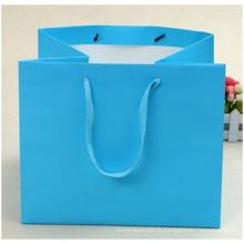 Sacs à provisions personnalisés de haute qualité, sac en carton blanc portable en gros.