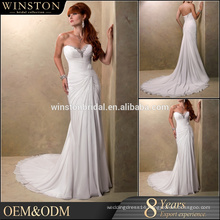 New Fashionable Special Design chiffon dress country western wedding dresses