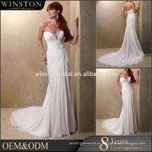 Vestido de chiffon elegante novo estilo elegante de vestir vestidos de casamento ocidental do país