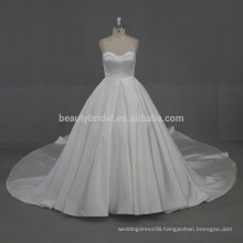W002 Different types satin long tail Wedding gowns for bridal