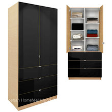 Modern Bedroom Furniture Wardrobe Cabinet with Adjustable Shelves and Drawers (HF-EY09041)
