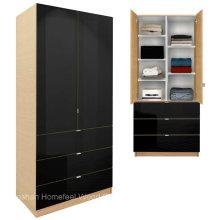 Современный шкаф для спальни с регулируемыми полками и ящиками (HF-EY09041)