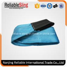8ton 240mm Blue Polyester Eye Eye Flat Webbing Belt