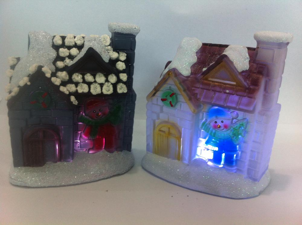 LED Christmas gifts Resin Christmas House Series