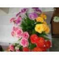 A flor com decoração da família Seda barata