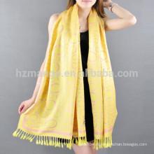 Реверзибельный жаккард удачливый круг вискозный шарф пашмины