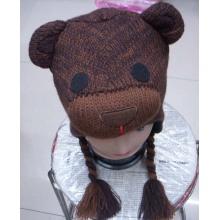 Heißer Verkauf weich gestrickte Tier Design warme Mütze