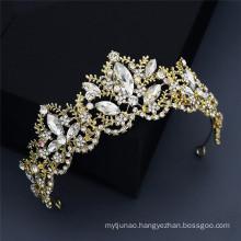 Vintage Crown Tiara Hairband Wedding Bride Luxury Hair Accessories Alloy Rhinestone Headband for Women Girls Feast Photo Studio