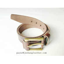 Factory Price Fashion Men Covered Buckle Italian Leather Belt