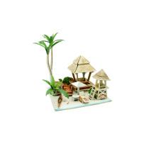 Juguetes de coleccionables de madera para casas globales-isla de Bali