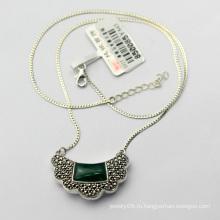 Старинное ювелирное ожерелье из стерлингового серебра 925 пробы