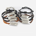 17 Cm Leather Fashion Personalized Jewelry Bracelet for Man