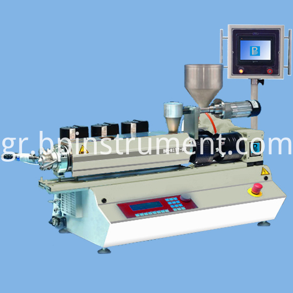 PLC control desktop small twin screw extruder