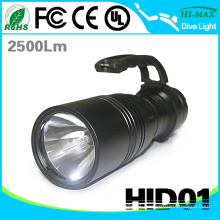 High performance IP68 55w high power handheld hid xenon torch flashlight