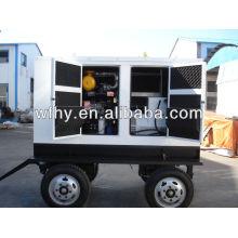 50kva Conjunto de generador diesel mobil de cuatro ruedas