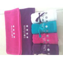 100%cotton colored gift towel set