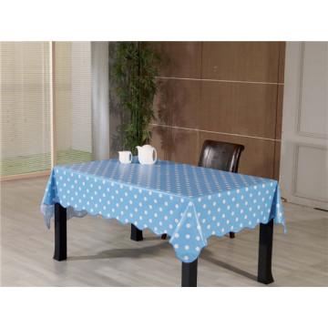 Alta qualidade claro pvc impresso transparente toalha de mesa à prova d'água oilproof característica (tj0155)