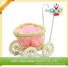 Cheap mini soap flower soap in basket/natural soap for promtion gifts
