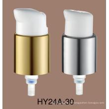 Venta caliente PP Material 24/410 bomba de loción de plástico blanco Bomba de loción para el cuidado de la piel