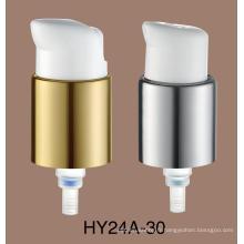 Vente chaude PP matériel 24/410 pompe de lotion en plastique blanche pompe de lotion de soins de la peau
