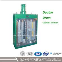 Moulin à eau et écran à eau à eaux usées à haut débit Double Drum