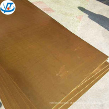 Placa de latão de alta qualidade 2mm CuZn30 Folha de latão CuZn35 H65 H60 H62