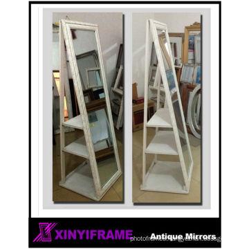 Dressing Rotating Decorative Standing Wooden Mirror Frame Design