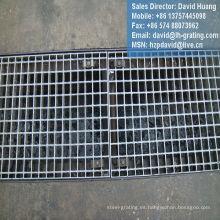 Canal galvanizado rejilla de piso de acero para drenaje de trinchera